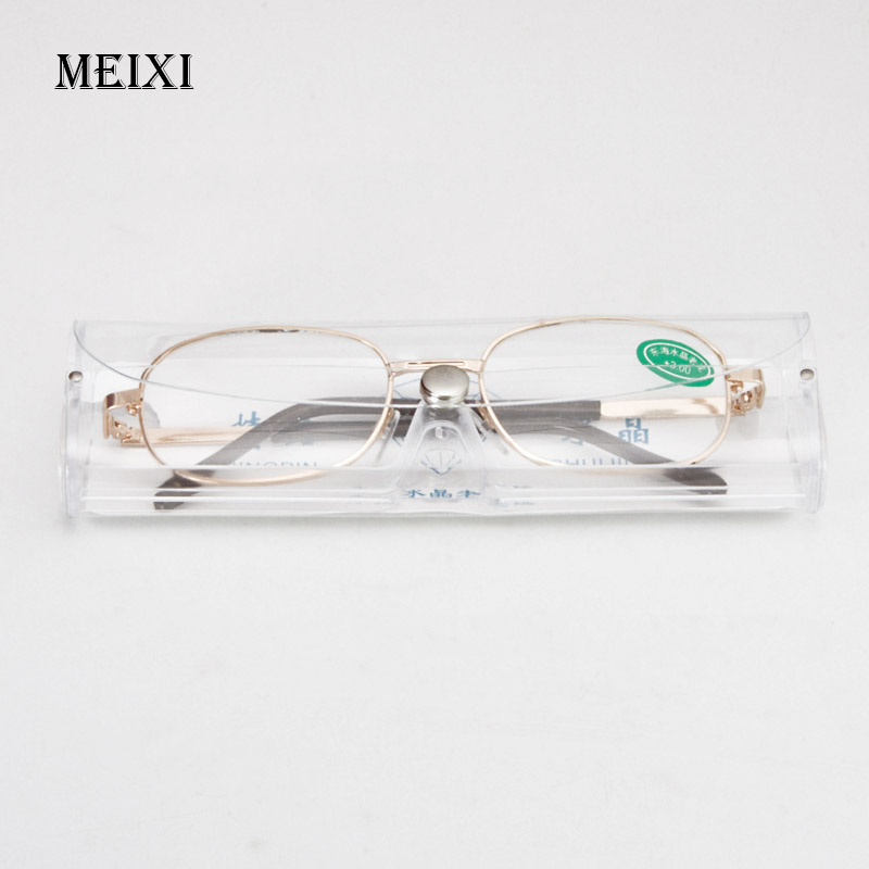 Full Metal Frame Glass Lenses Female Male Reading Glasses Women's Men's Unisex Eyewear +1.0 1.5 2 2.5 3 3.5 4 4.5 5 5.5 6