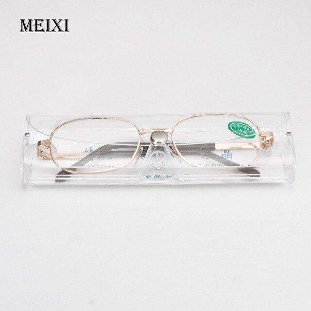 Full Metal Frame Glass Lenses Female Male Reading Glasses Women's Men's Unisex Eyewear +1.0 1.5 2 2.5 3 3.5 4 4.5 5 5.5 6