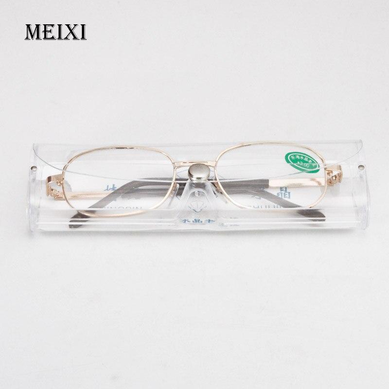 Vollmetallrahmen Glaslinsen Weiblich Männlich Lesebrille frauen männer Unisex brillen + 1,0 1,5 2 2,5 3 3,5 4 4,5 5 5,5 6
