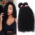 Brazilian Curly Virgin Hair 4PCS Curly Weave Human Hair Meches Bresilienne Curly Human Hair Bundles Bohemian Curly Hair Sew Weft