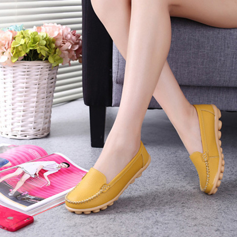 Zapatos de Cuero de LA PU de las mujeres zapatos de Los Planos Ocasionales Corte