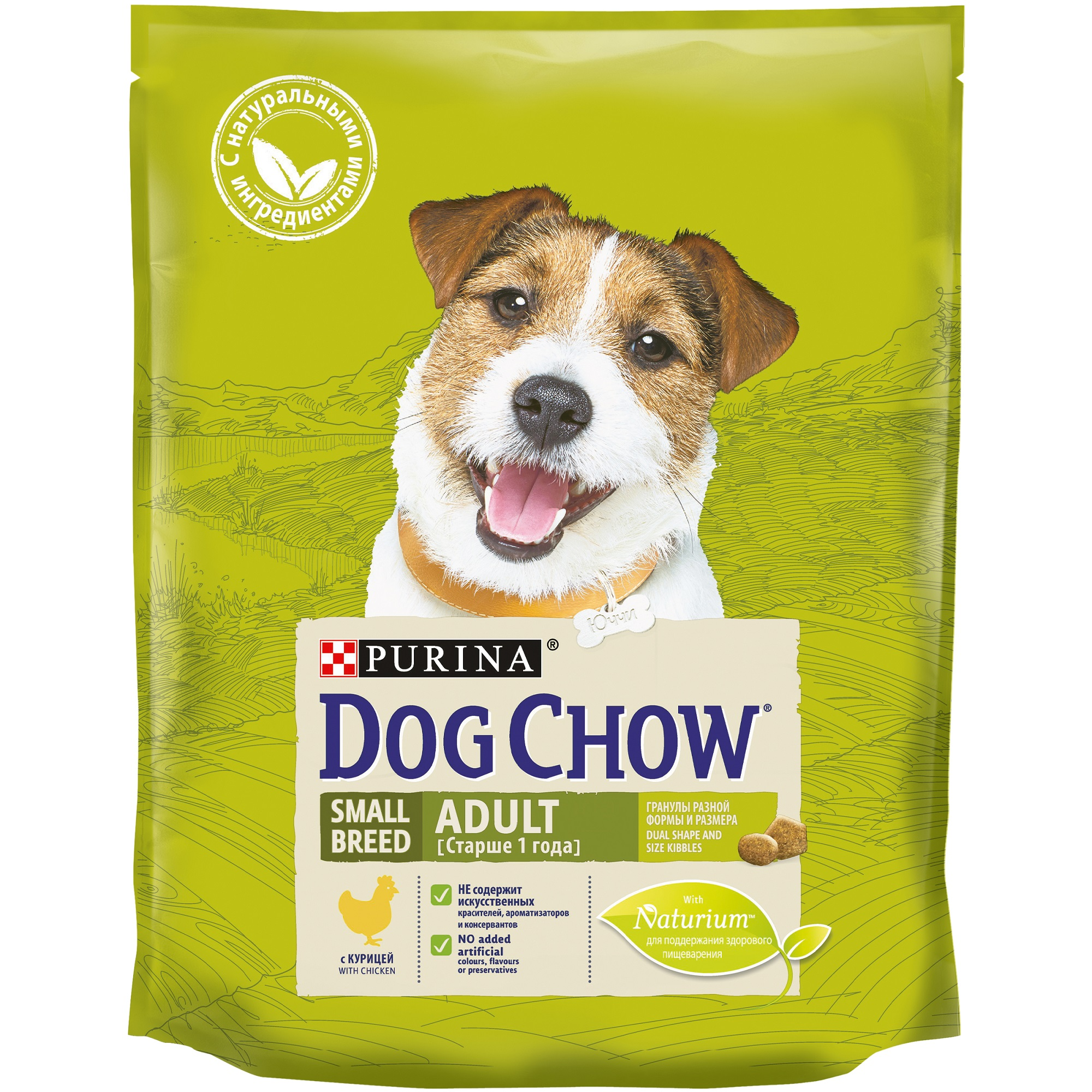 Dog Chow dry food for adult dogs of small breeds, with chicken, Package, 800 g dog food dog chow mature for dogs of all breeds aged 5 9 years lamb 2 800 g