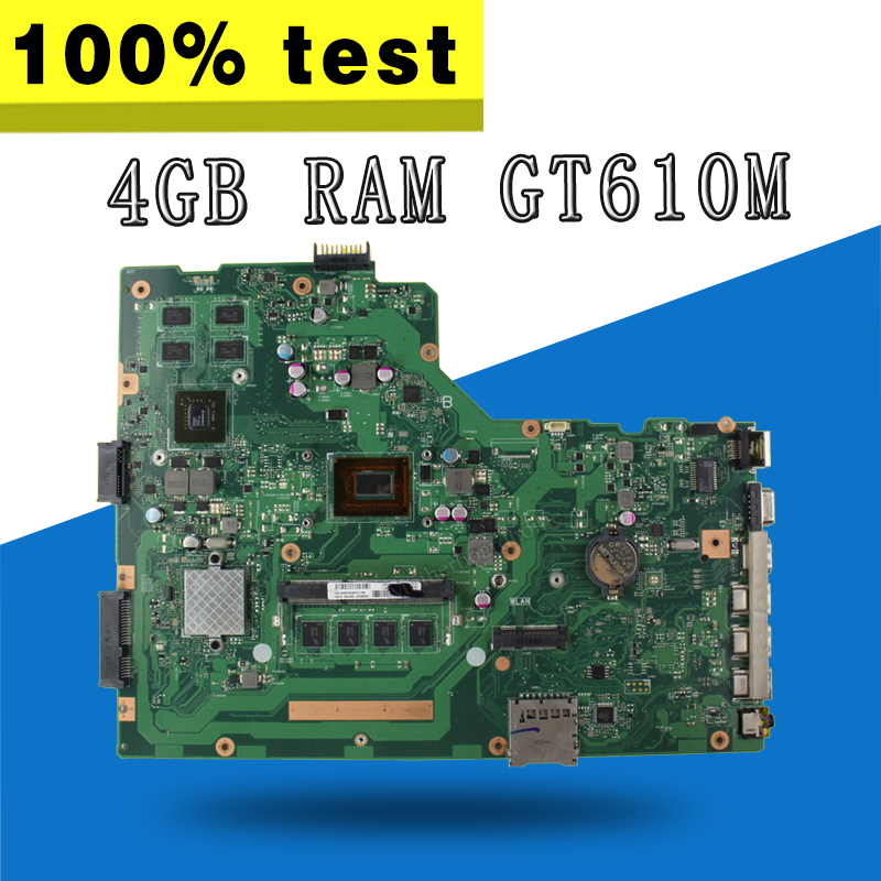 with i3 cpu 4GB RAM GT610M X75VD Motherboard For ASUS X75V X75VD Laptop Motherboard X75VD mainboard