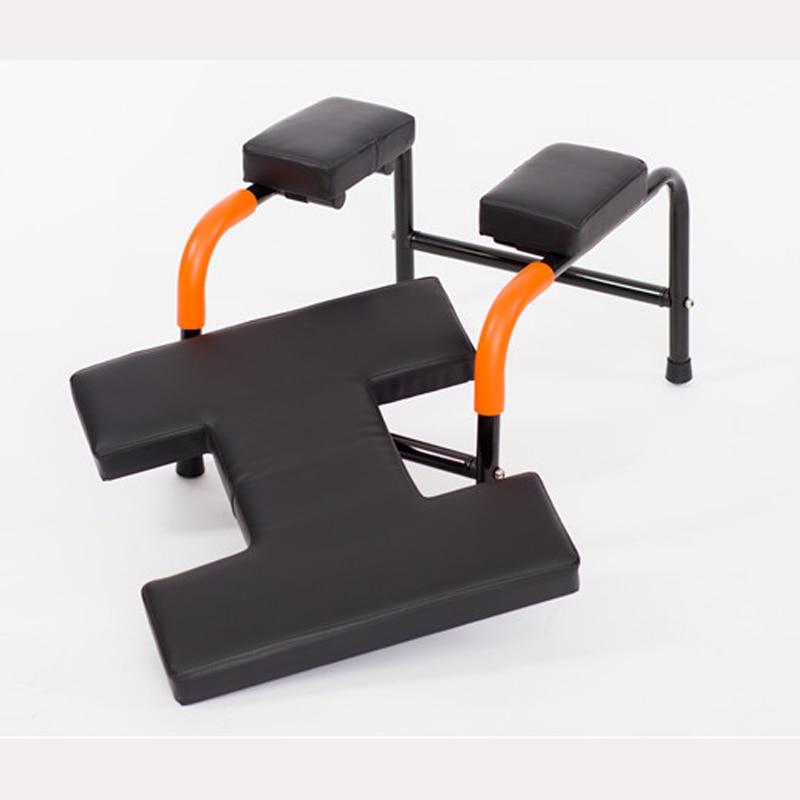 Fitness Yoga assisté chaise inversée chaise de gymnastique à la maison tabouret avec tapis souple Velcro