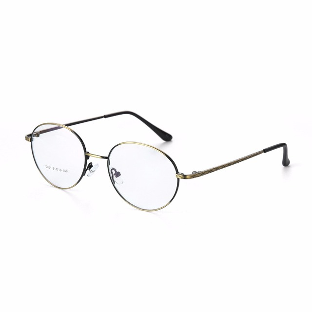 5735b1f43e1 clear fashion gold round frames eyeglasses for women vintage steampunk  round glasses frames for men male