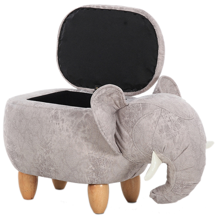 US $81.59 15% OFF|Big Sale!Storage Footstool Shoe Stool Pouf Chair Leather  Sofa Ottoman Bean Bag Kid Toys Solid Wood Nordic Home Deco Furniture-in ...