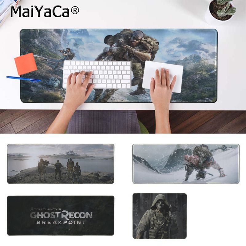 Maiyaca Funny Tom Clancys Ghost Recon Breakpoint Comfort Mouse Mat Gaming Mousepad Rubber PC Computer Gaming Mousepad