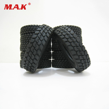 4pcs Climbing Car Rubber Tyre Rubber Tires For Tamiya 1:14 Scale RC Tractor Trailer Mover Truck Car Model Accessories rc toy truck body cab interior kits for 1 14 scale remote control car tamiya scania r620 56323 tractor trailer parts accessories