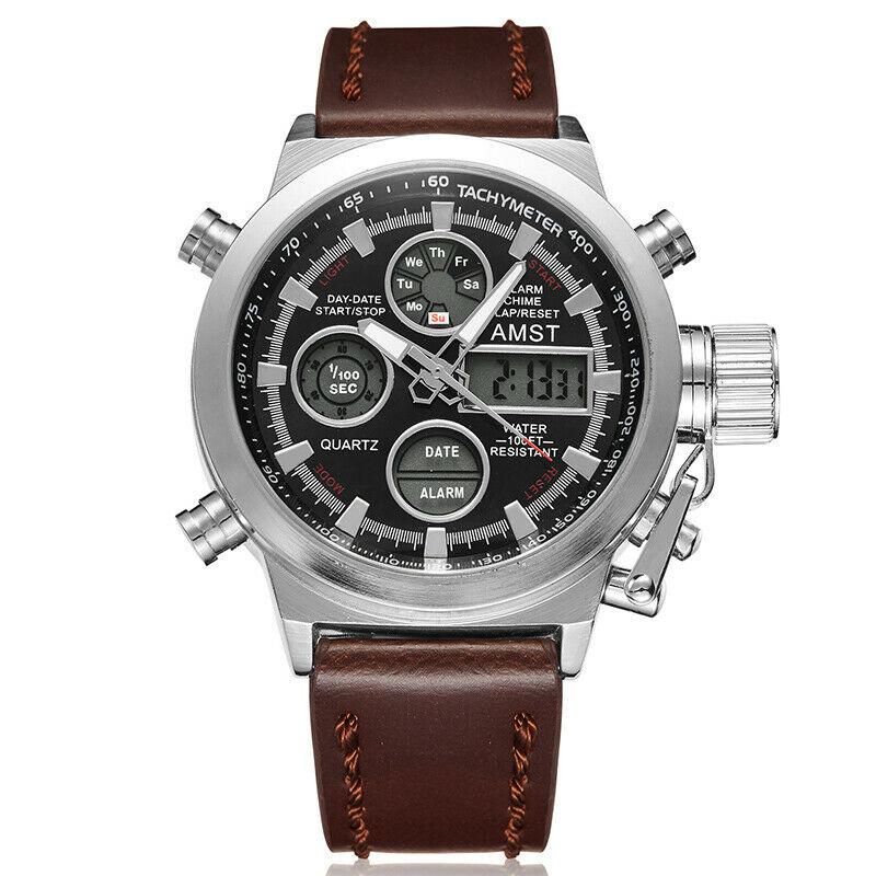 2019 masculino AMST 50M Relógios Homens Militar Moda Cour Relógio Banda Relógio de Quartzo Negócio Relógio de Pulso reloj hombre