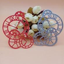 Винтажные трафареты в форме часов roman time axis для diy скрапбукинга