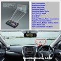 Для Mitsubishi Pajero-Проекция на лобовое стекло автомобиля Безопасного вождения HUD head up display избежать драйверы часы звук дисплей