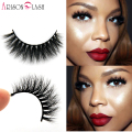 Wholesale Natural 3D 100% Real Mink False Eye Lashes/ Permanent Mink Fake Eyelashes Extensions For Makeup Free Shipping D4 stock