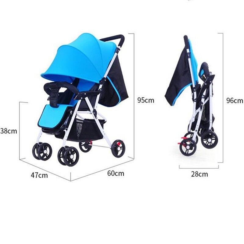 5.5 ultra-léger bébé poussette haut paysage à quatre roues chariot pliable Portable poussette voyage landau pour les nouveau-nés enfants - 6
