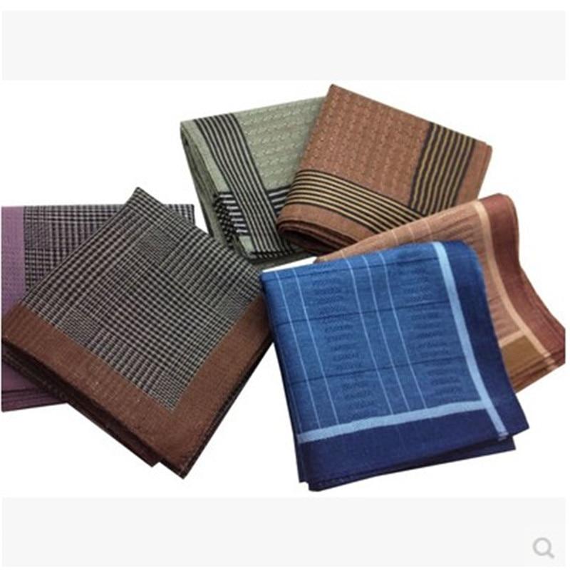 100% Cotton Stripe Male Handkerchief  Towboats Mens Handkerchief Gifts 40*40CM