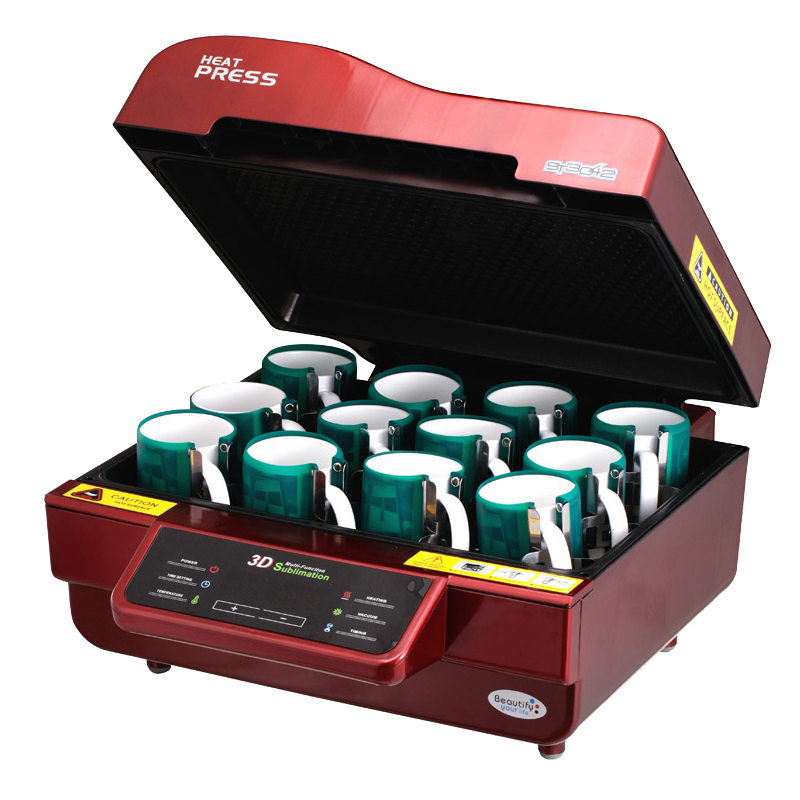 Heißer verkauf 3D Sublimation Transferpresse Drucker 3d vakuum wärmepresse Drucker Maschine Druck für Fällen Tassen Teller Gläser - 5