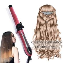 2 in 1 Straight Hair & Curly Volumizing Straightener Flat Iron Digital LCD Display  Curler