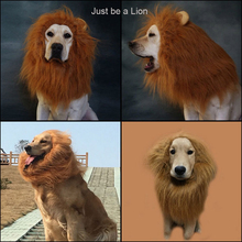 ins hot Cute Pet Costume Cosplay Lion Mane Cap Hat Wig Dog Cat Halloween Clothes Fancy Dress up with Ears