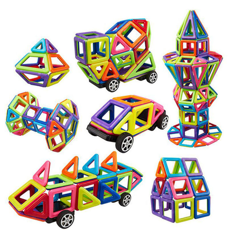Assembly Model Kit Magnetic Toy Plastic Building Block 3D Blocks DIY Kids Toys Educational Model Building Kits 2016 New Toys kids educational toys 102pcs set sweeper model assembly building blocks kit enlighten puzzle toy children birthday gifts