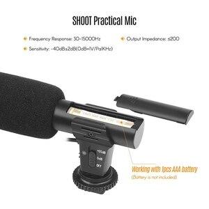 Image 5 - Портативный конденсаторный стереомикрофон Shoot Xt 451, микрофон с разъемом 3,5 мм, крепление «Горячий башмак» для камеры Canon, видеокамеры, смартфона Dv