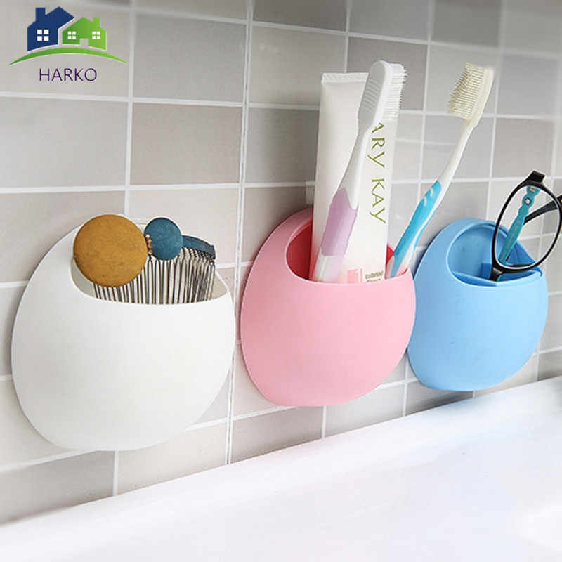 Newly Suction Cup Toothbrush Holder Toothbrush Organizer Rack Bathroom Kitchen Wall Mounted Storage Holder 11x10.5x5cm