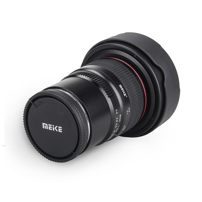 Meike 8 мм f/3,5 широкоугольный объектив «рыбий глаз» для беззеркальной камеры Panasonic Olympus MFT, крепление Micro 4/3 с креплением на градусов, с крепление