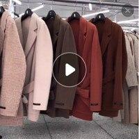Европейские модные зимнее пальто 2018 г. Корейская версия новой короткие кашемировые пальто ручного шитья двухсторонний шерстяное пальто же