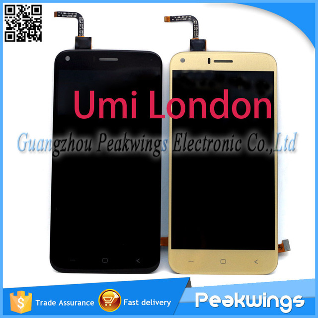 "1280*720 5.0 ""polegadas Black & Gold LCD Para Umi Londres LCD Screen Display Toque Digitador Assembléia"