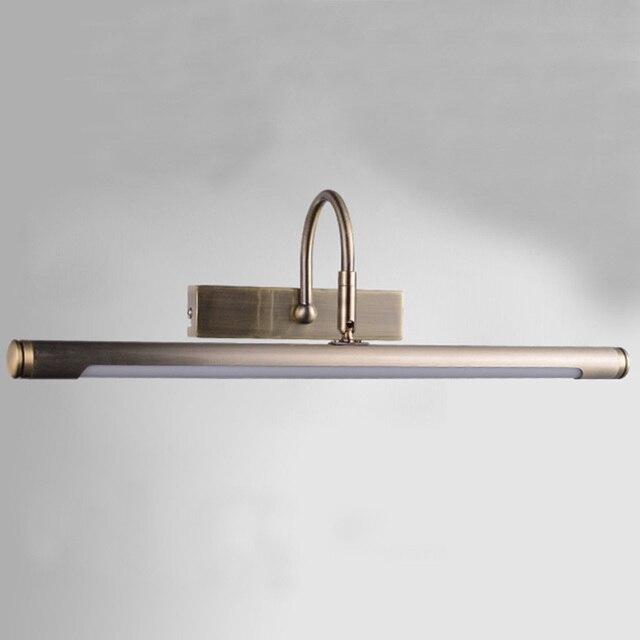 Loft Vintage European Style Mirror Lamp LED Bathroom Light Single Source With Button