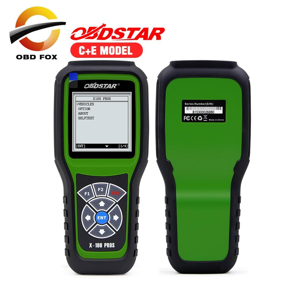Prix pour 2017 Nouveau conçu OBDStar Auto Clé Programmeur X100 PROS C + E modèle Y Compris X200 Scanner Fonction x-100 pros livraison gratuite