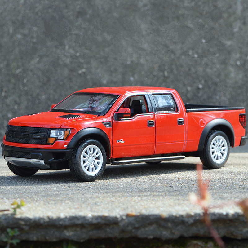 High simulation F 150 pickup toy 1 32 scale Alloy pull back car model 4 open