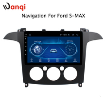 9 дюймов Android 8,1 полный сенсорный экран Автомобильная Мультимедийная система для Ford S-Max Galaxy 2007-2008 Автомобильный GPS Радио Навигация