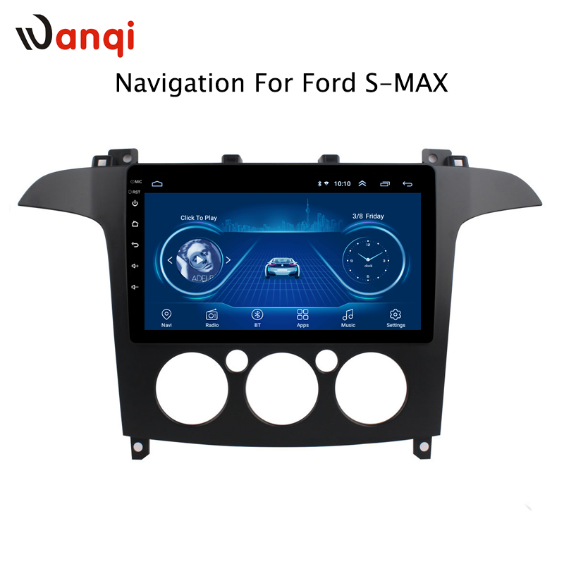 9 inch Android 8.1 full touch screen car multimedia system For Ford S Max Galaxy 2007 2008 car gps radio navigation