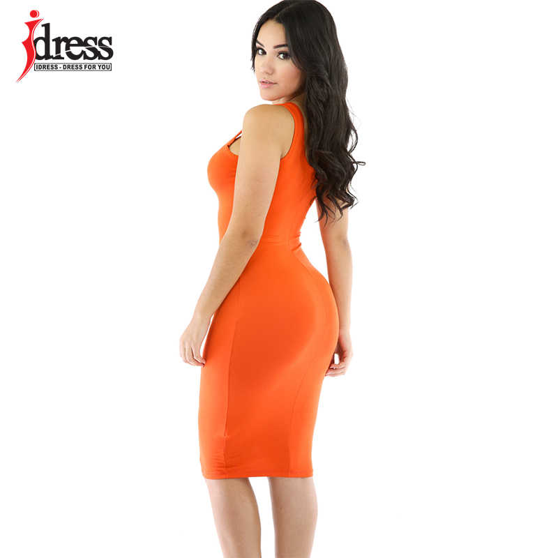 755bc4e4205 ... Idress сарафан 2016 Для женщин летнее платье Повседневное пикантные  пляжные футболка платье Bodycon Vestidos Tunique желтый