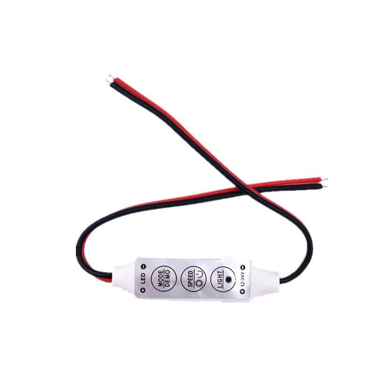 1pcs DC5-24V Mini 3 Keys Single Color LED Controller Brightness Dimmer For SMD 5050 3528 Led Strip Light