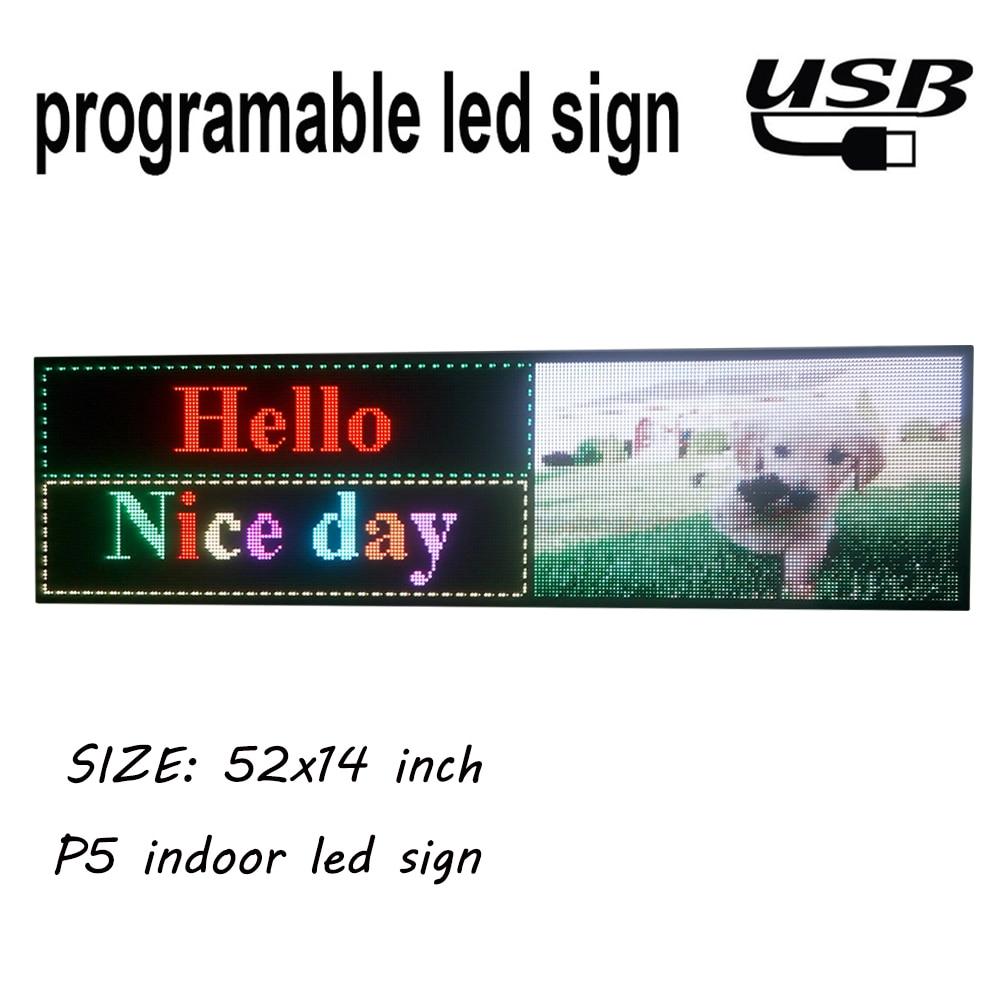 P5 Крытый полноцветный светодиодный дисплей 1320x360 мм прокрутка текста, видео светодиодный экран