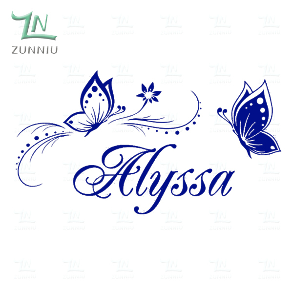 - Personalized Name Butterfly wall stickers for kids ...