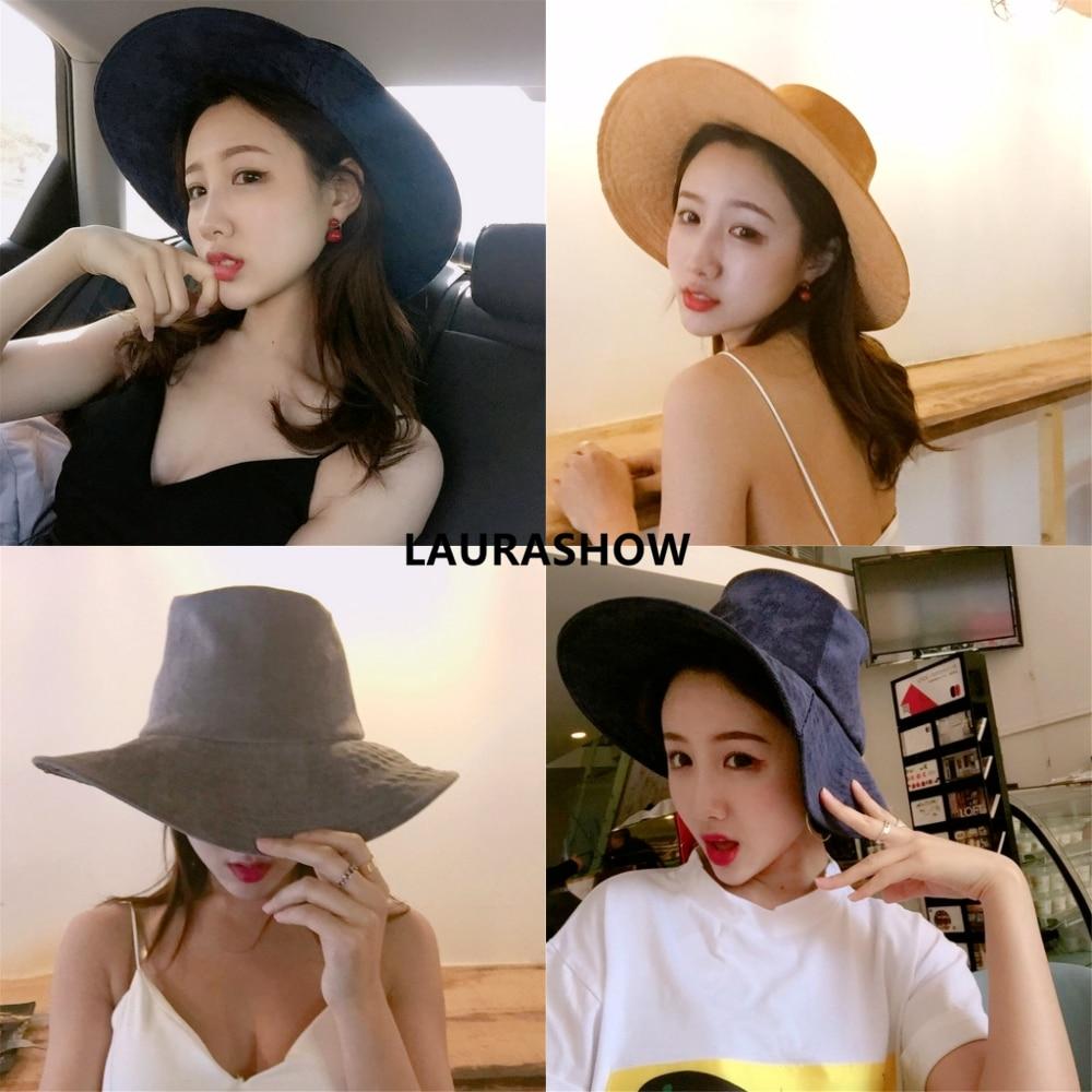 Bekleidung Zubehör Sporting Laurashow Solide Farben Eimer Hüte Für Frauen SchöNe Lustre Kopfbedeckungen Für Damen