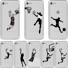 Funny Football Basketball Sport Jordan Case for iPhone 6 6S 7 8 PLUS X 10 5 5S SE Transparent Soft Silicone Fundas Cover Capinha(China)