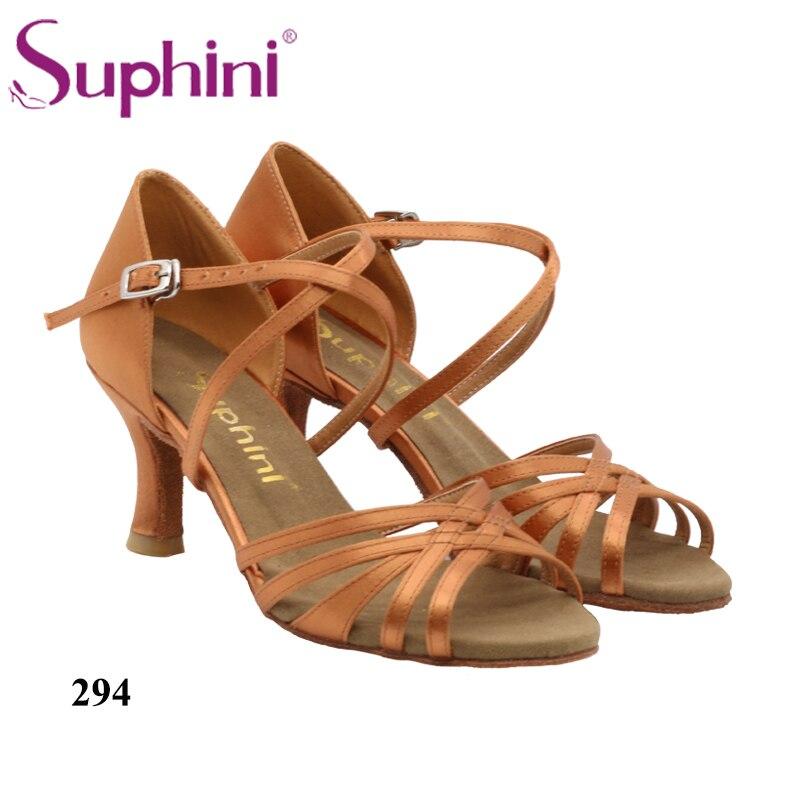 Livraison gratuite Suphini nouveau dans les chaussures de danse latine Style Denim