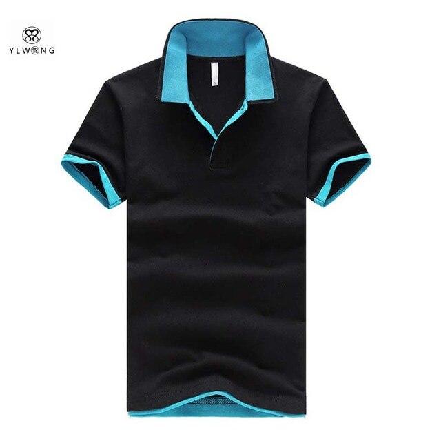 46ca1cc76aa31 Camisa Estilo Polo Hombres de Verano de lujo Sólido Polo 6XL Delgada Camisas  de Polo de