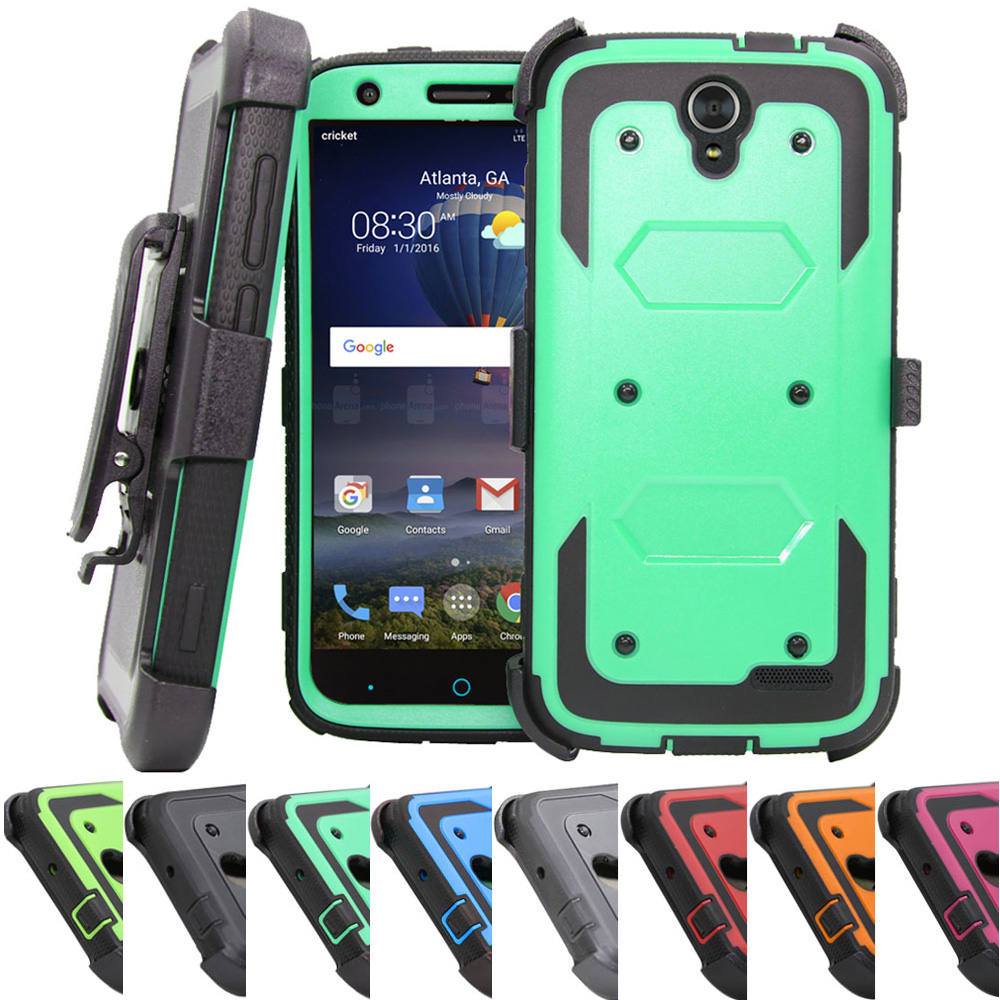 the best attitude 7e471 ffcfb Heavy Duty Armor Case Durable Fundas Holster+Belt Clip Shockproof Hard  Shell Phone Cover For ZTE Grand X3 Z959/Warp 7 2016 @-in Holsters & Clips  from ...