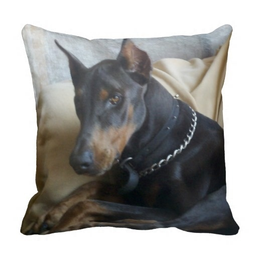 """Humid Doberman Pinscher American Mojo Pillow Case (Size: 20"""" by 20"""") Free Shipping"""