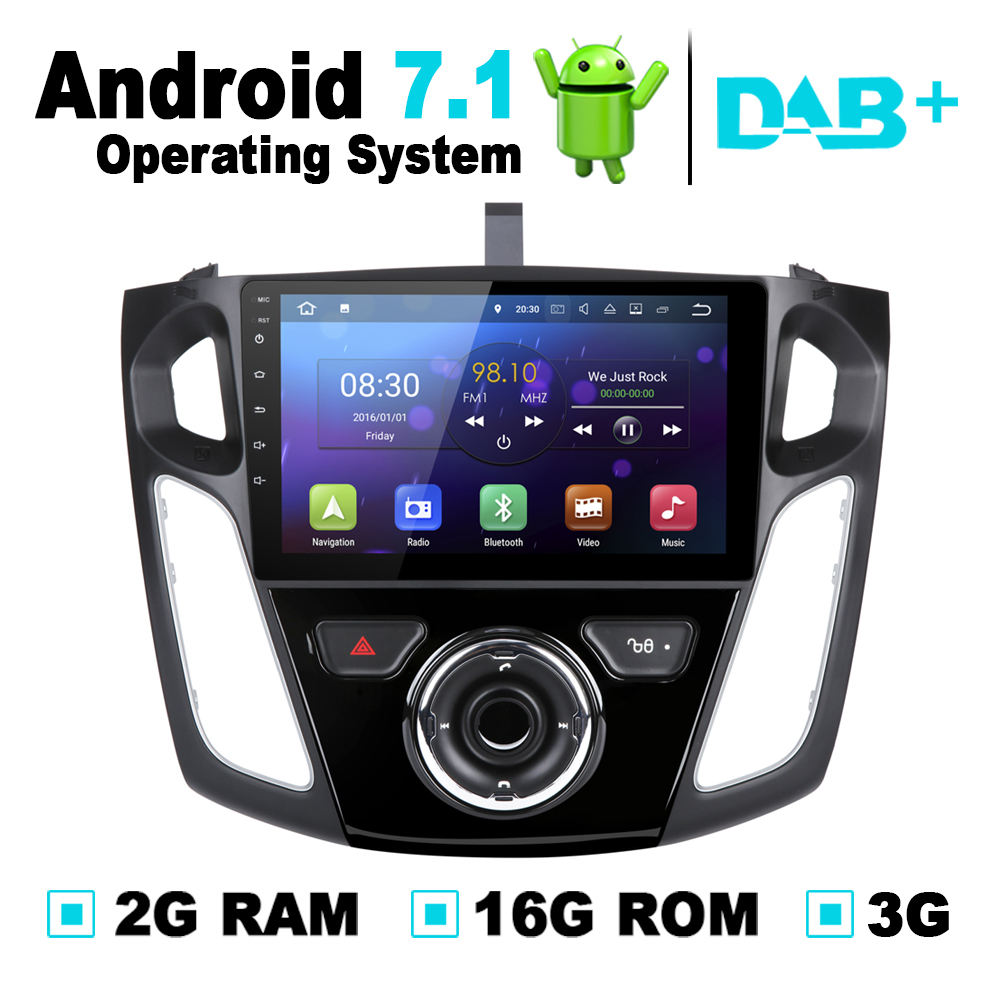 Android 7 1 system 2g ram car gps navigation radio stereo media dvd for ford c max 2011 for ford focus 3 2012 2013 2014 2015