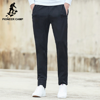 Pioneer Camp New Summer Joggers Men Brand Clothing Fashion Black Solid Thin Casual Pants Male Top