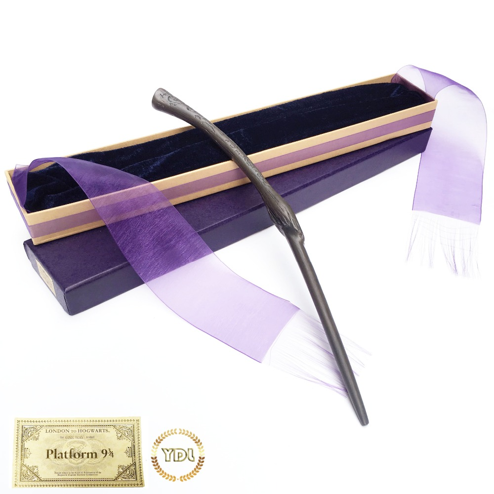 Bellatrix Metal Core HP Hermione Magic Wand Elegant Ribbon Box Packing Cosplay Christmas Gift With Train Ticket