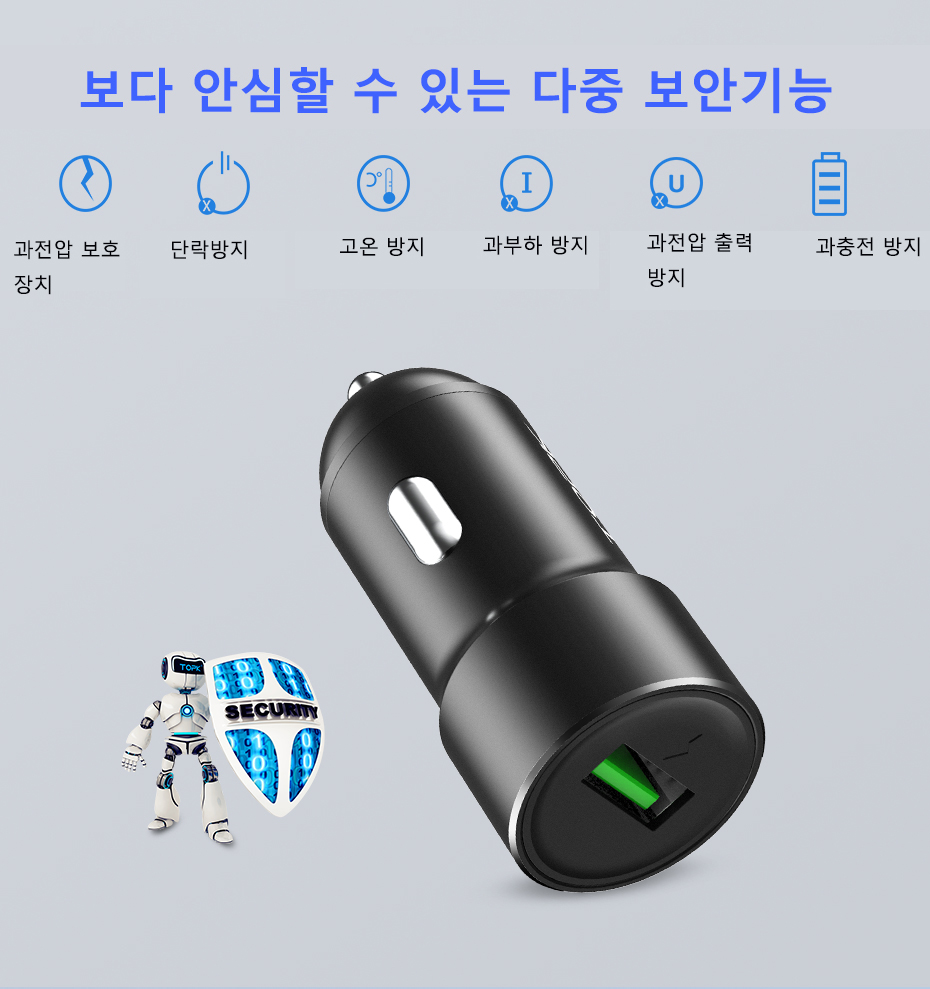 TOPK USB Car Charger Fast QC3.0 Car-Charger for Samsung Xiaomi Huawei HTC Quick Charge 3.0 Mobile Phone Charger Adapter in Car