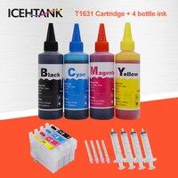 ICEHTANK 16XL Tinte Patrone Für Epson T1631 Workforce WF-2010 WF-2510 WF 2010 2510 2520 2630 2660 2760 Patronen + Drucker tinte