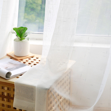 CITYINCITY  Gold and Silver Color Yarn For Livingroom  White Voile Laxu Linen Curtains for bed room Sheer  Window Customized