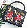 Luxury Fashion Print Metal Butterfly Diamond Box Shape Ladies Totes Handbag Shoulder Bag Party Purse Crossbody