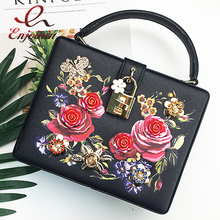 Luxury fashion print metal butterfly Diamond box shape ladies totes handbag shoulder bag party purse crossbody messenger bag